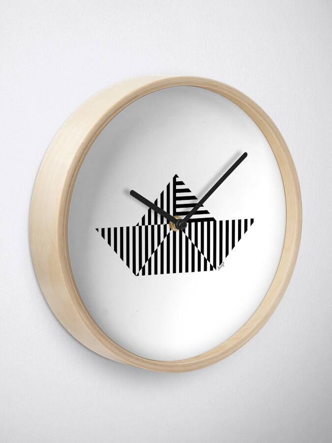 Alternate view of Paper Boat design Clock