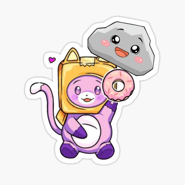 Happy Rocky plushie lankybox Sticker