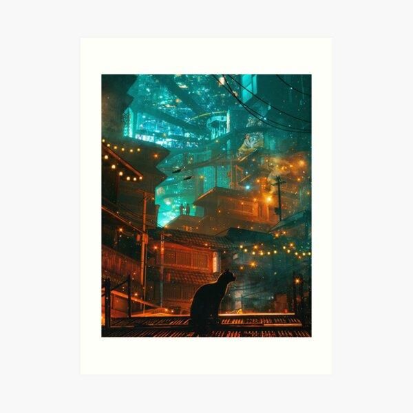 Midnight Melody, by Dangiuz Art Print