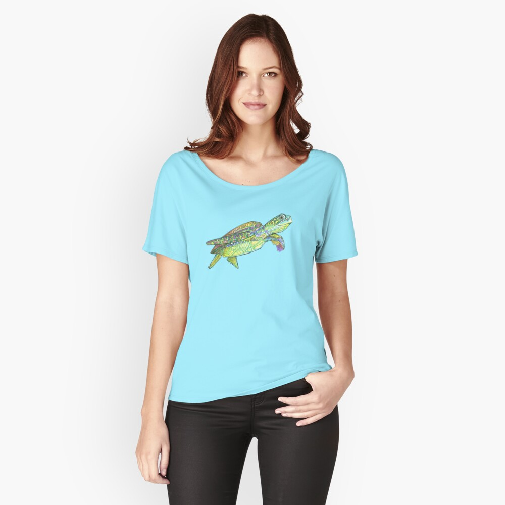 Sea turtle drawing - 2015 Relaxed Fit T-Shirt