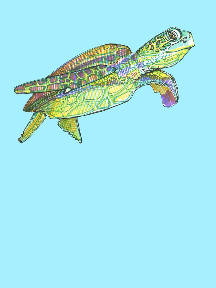Sea turtle drawing - 2015 by gwennpaints