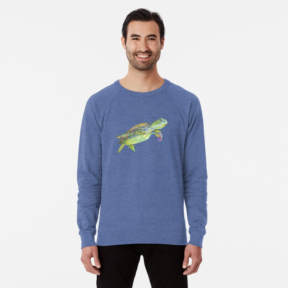 Sea Turtle Drawing - 2015 Lightweight Sweatshirt
