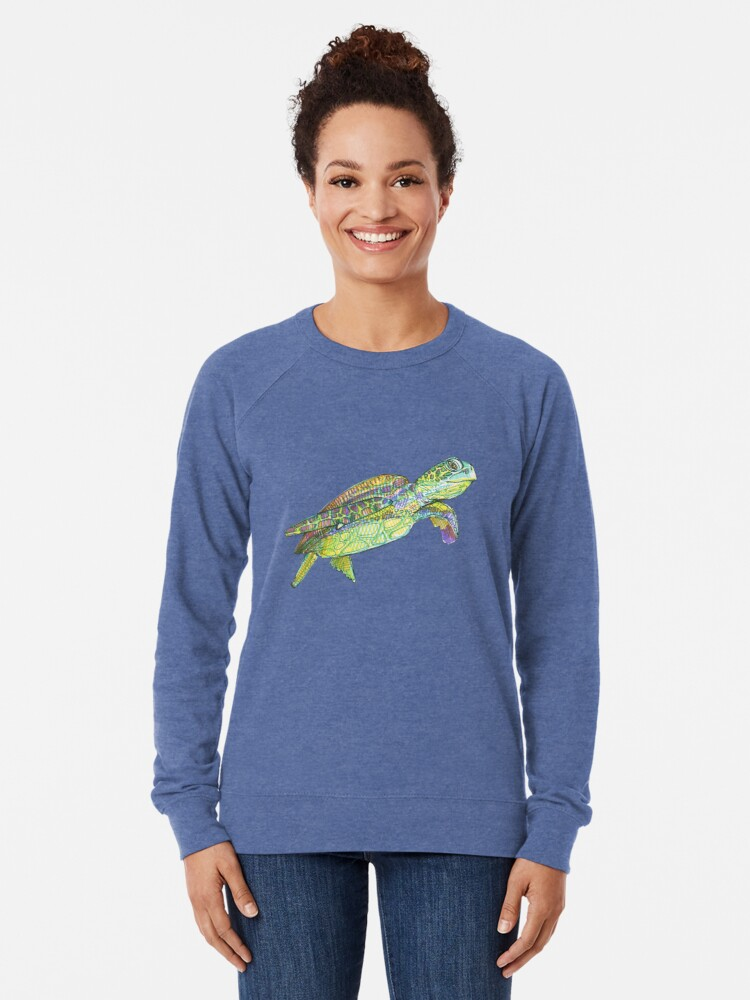 Alternate view of Sea Turtle Drawing - 2015 Lightweight Sweatshirt