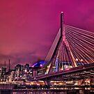 Zakim bridge, Boston MA by LudaNayvelt