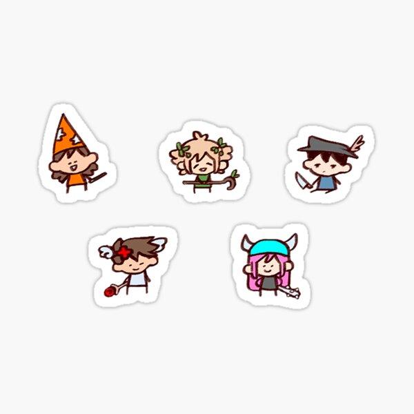 Chibi Sprites (Omori) Glossy Sticker