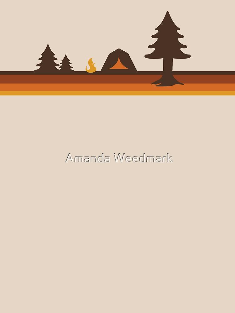 Happy Camper (Retro, 70s, Camping) by amandaweedmark