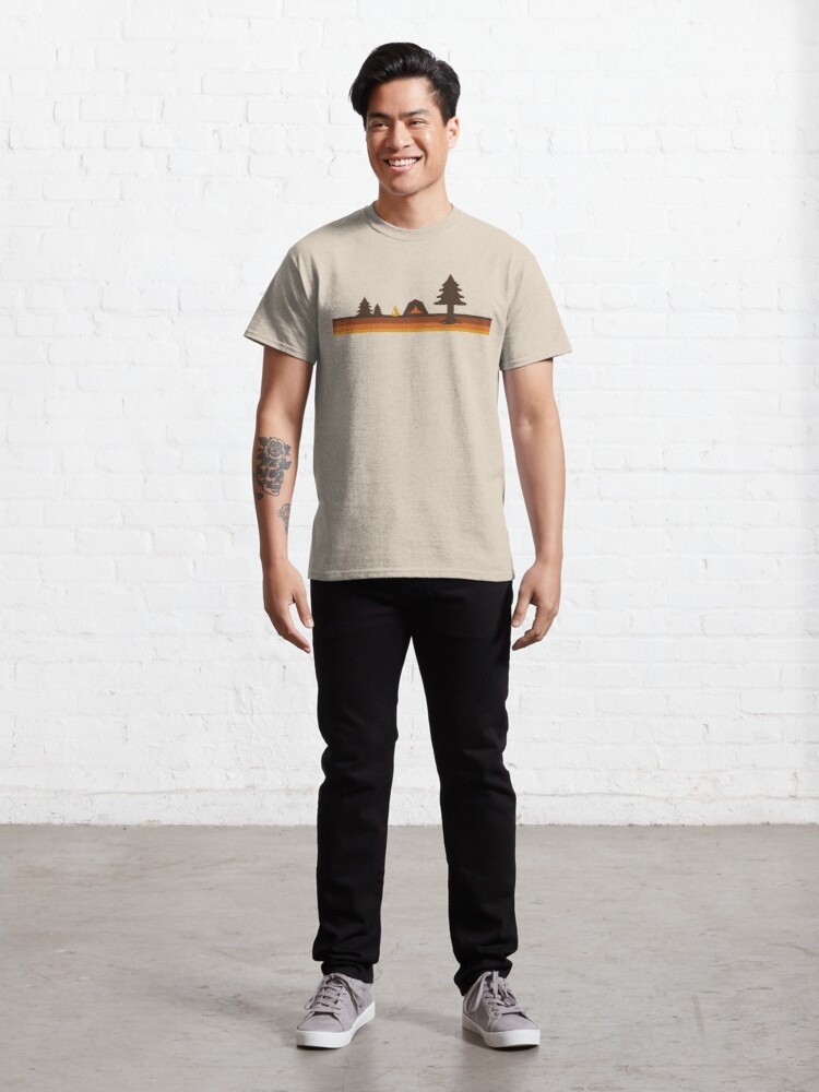 Alternate view of Happy Camper (Retro, 70s, Camping) Classic T-Shirt