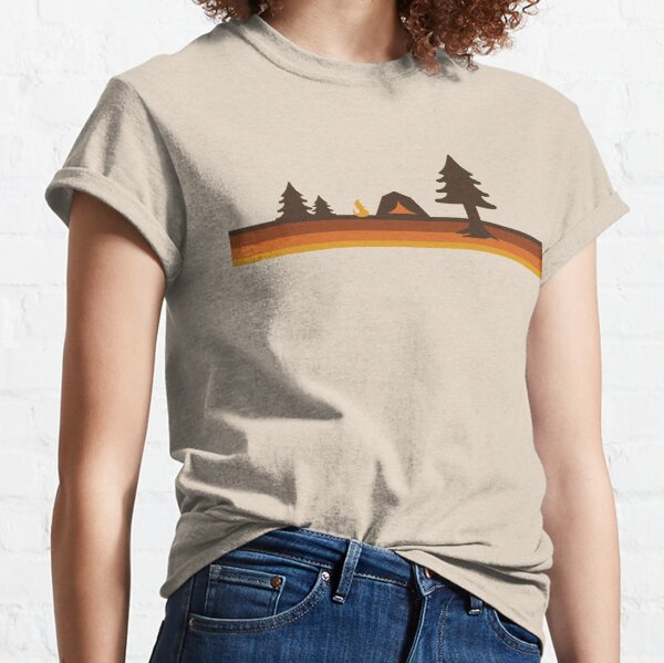 Happy Camper (Retro, 70s, Camping) Classic T-Shirt