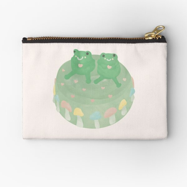 Aesthetic Illustrated Frog Cake Zipper Pouch