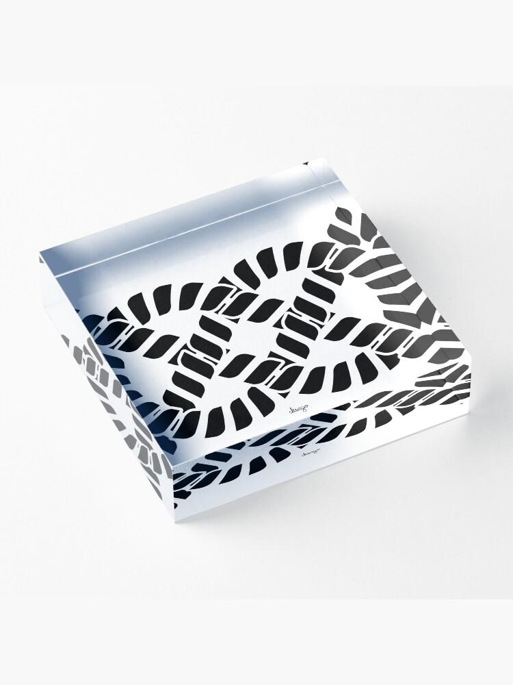 Alternate view of KNOT design Acrylic Block