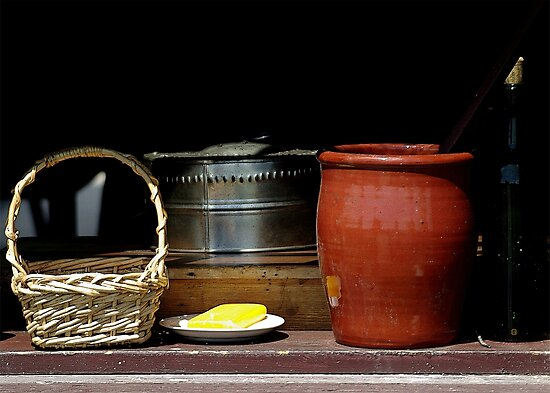 Old Kitchen Window Ensemble by Vy Solomatenko