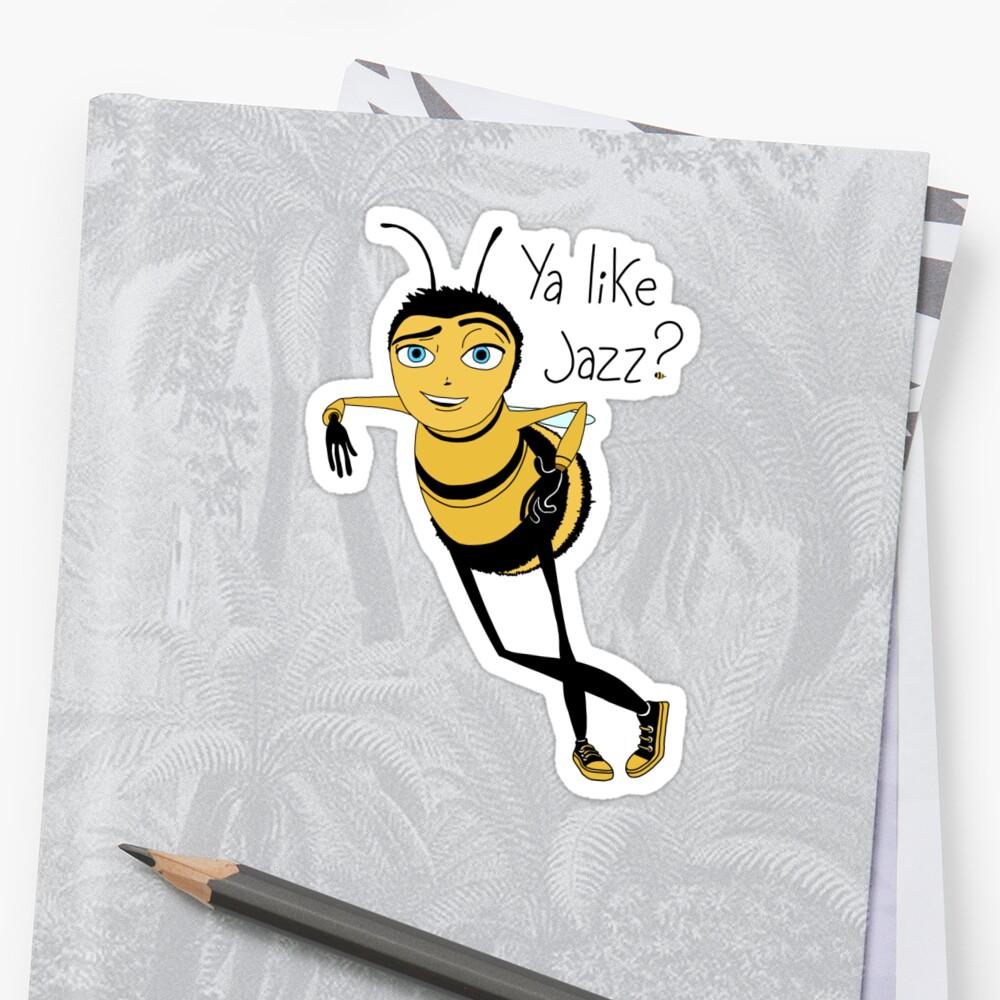 La pelicula Bee te gusta el jazz Pegatina