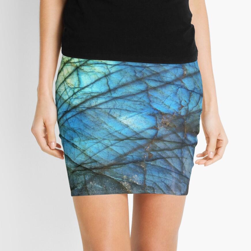 Labradorita azul real Minifalda