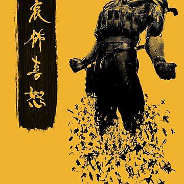 Metal Gear Solid 4 - Dissolving Snake by ravisundaram