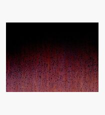 Red Brown Black Ombre Rust Metal Patina Photographic Print