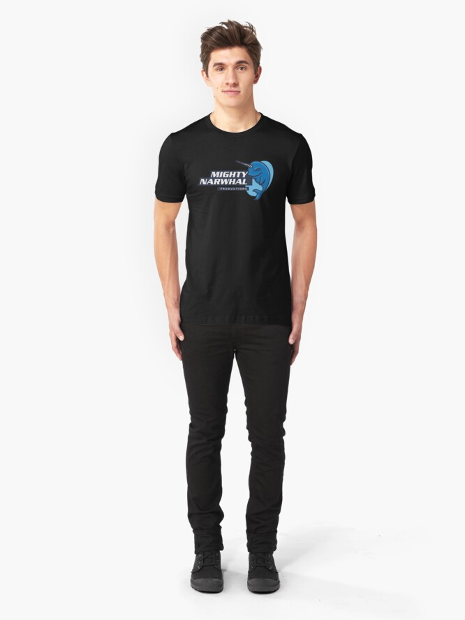 Alternate view of Mighty Narwhal Productions Slim Fit T-Shirt