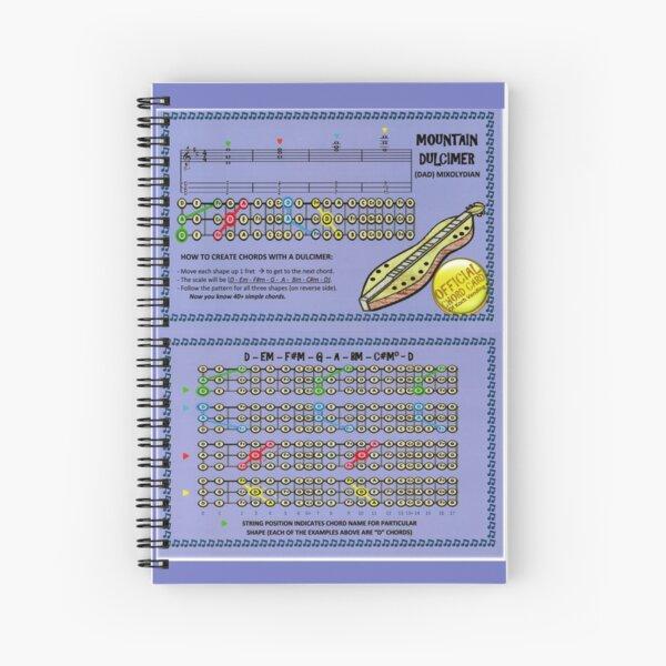 DAD Mountain Dulcimer Chord Chart Spiral Notebook