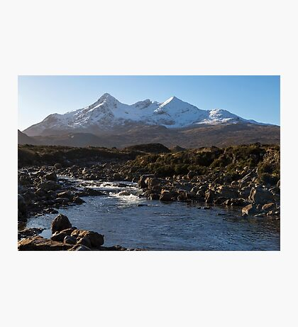 River Sligachan and the Black Cuillin Mountains Photographic Print