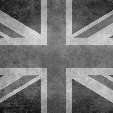 Union Jack Vintage 3:5 Version in grayscale by Bruiserstang