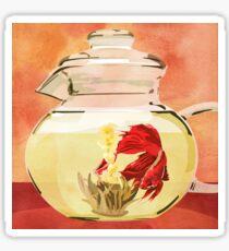Beta Fish Tea by Kenzie McFeely Sticker