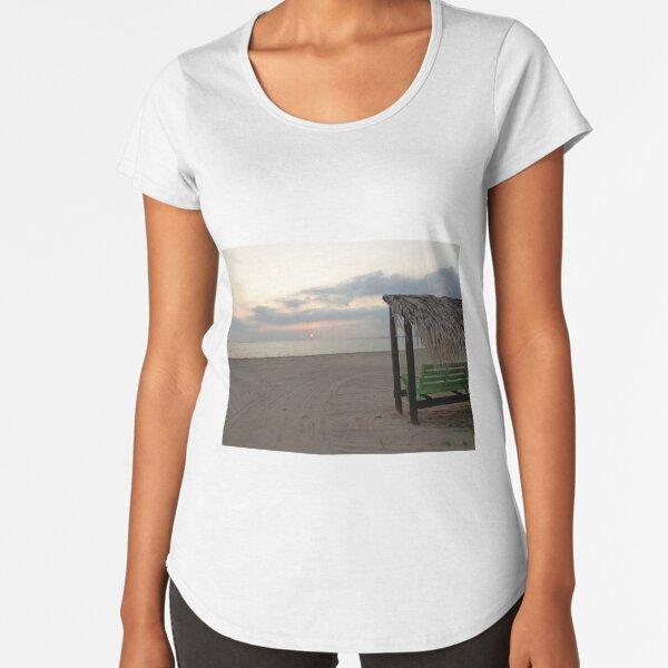 Beach Sunset  Premium Scoop T-Shirt