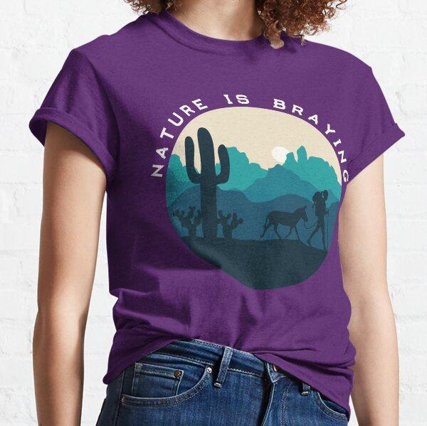 Nature is Braying (female; mini donkey) Classic T-Shirt