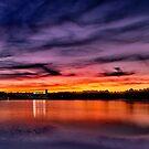 Sun dusk over Boston College  by LudaNayvelt