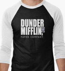 Dunder Mifflin Paper Company - The Office Men's Baseball ¾ T-Shirt
