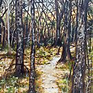 'Woods At Dusk' by Jerry Kirk