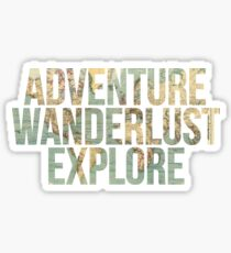 ADVENTURE, WANDERLUST, EXPLORE, map Sticker