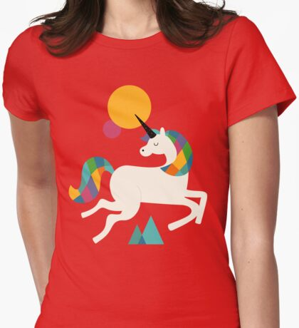 To be a unicorn Womens Fitted T-Shirt