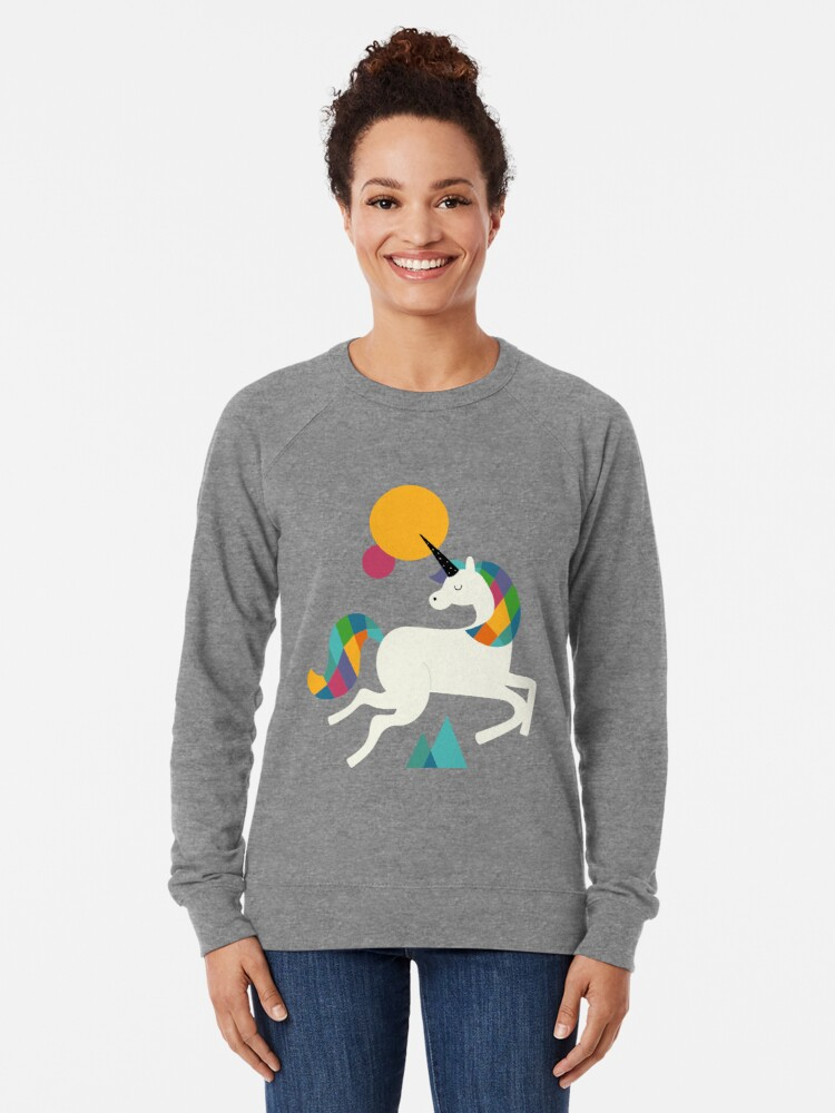 Alternate view of To be a unicorn Lightweight Sweatshirt