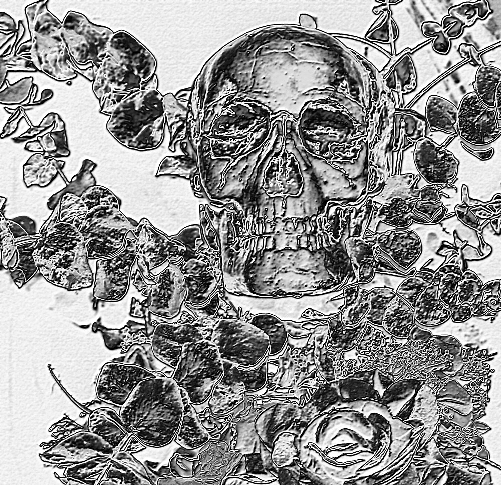 SKULL & FLOWERS by BOLLA67