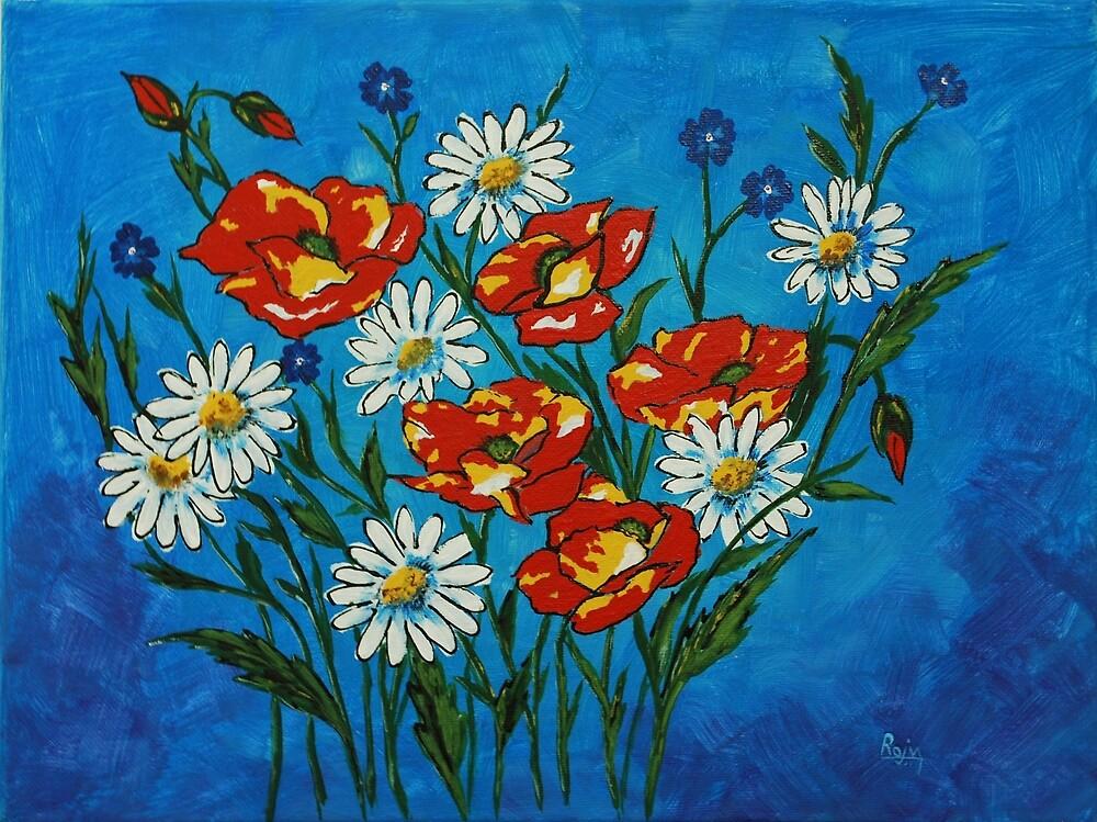 Bright Flowers by Raju Dyapur