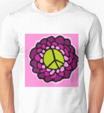 pink green peace flower Unisex T-Shirt