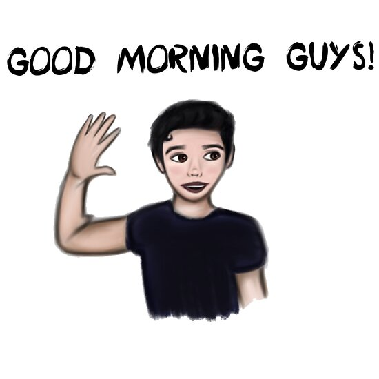 Good Morning Guys Posters By Aimi Devine Redbubble