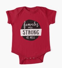 Females Are Strong As Hell | Blue One Piece - Short Sleeve