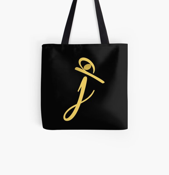 Diseño J Bolsa estampada de tela