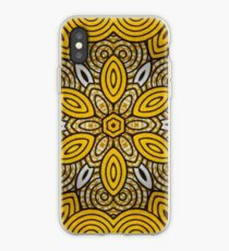 African Print Starburst-Yellow iPhone Case