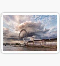 Impressions of London - London Eye Dramatic Skies Sticker