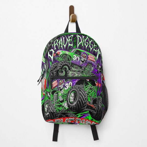Monster jam grave digger monster truck Fans Art Gift Backpack