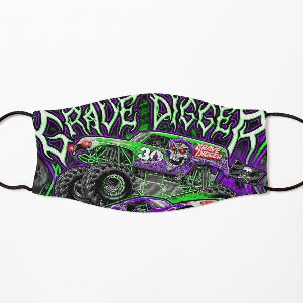 Monster jam grave digger monster truck Fans Art Gift Kids Mask