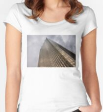 Gold and Gray Women's Fitted Scoop T-Shirt