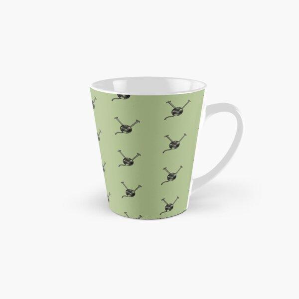 Cartoon yarn ball green print Tall Mug