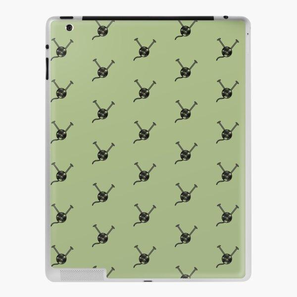 Cartoon yarn ball green print iPad Skin