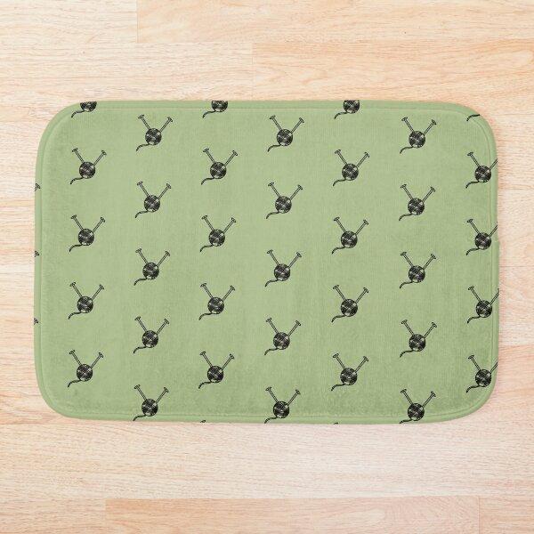 Cartoon yarn ball green print Bath Mat
