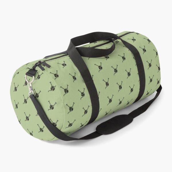 Cartoon yarn ball green print Duffle Bag