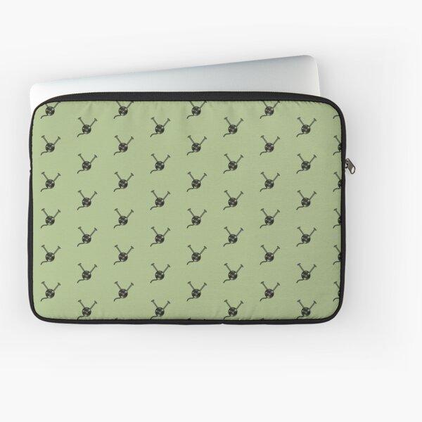 Cartoon yarn ball green print Laptop Sleeve