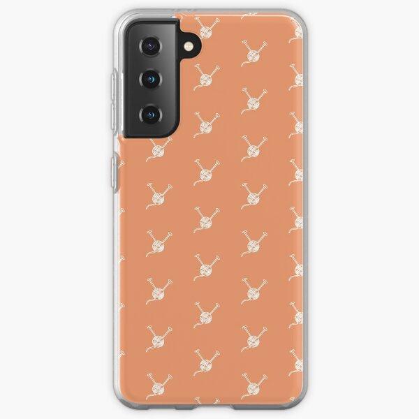 Cartoon yarn ball orange white  print Samsung Galaxy Soft Case