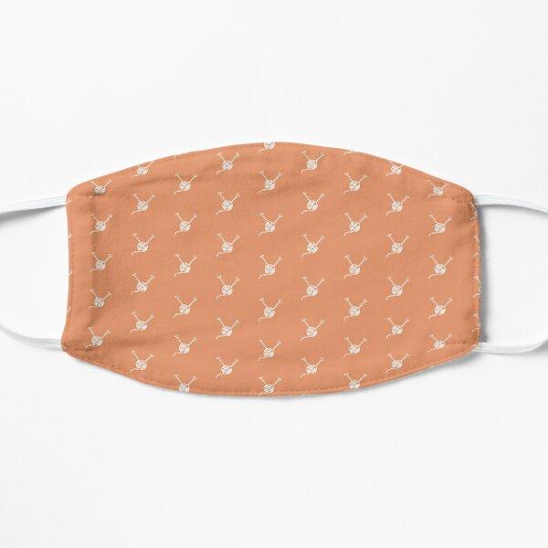 Cartoon yarn ball orange white  print Flat Mask